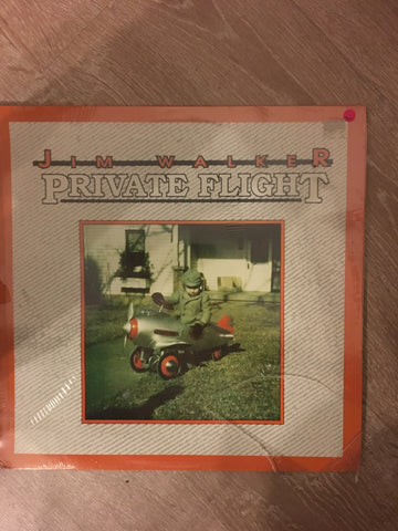 Jim Walker  - Private Flight  - Produced by Stanley Clarke ‎-  Vinyl LP Record - Sealed - C-Plan Audio