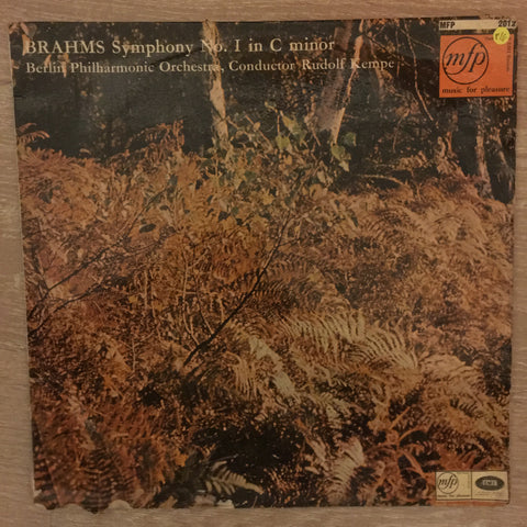Brahms Symphony No 1 in C Minor Op.68 - Berlin Philharmonic - Rudolph Kempe - Vinyl LP Record - Opened  - Very-Good Quality (VG)