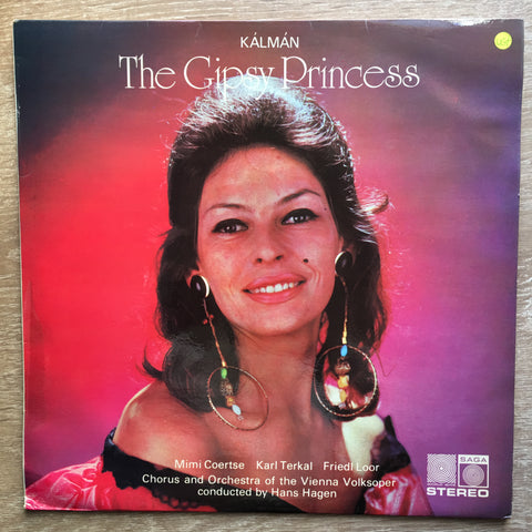 The Gypsy Princess  - Kálmán, Mimi Coertse, Karl Terkal, Friedl Loor, Chorus And Orchestra Of The Vienna Volksoper Conducted By Hans Hagen ‎ - Vinyl LP Record - Opened  - Very-Good+ Quality (VG+)