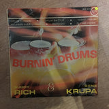 Buddy Rich And Gene Krupa ‎– Burnin' Drums  - Vinyl LP Record - Opened  - Very-Good- Quality (VG-)