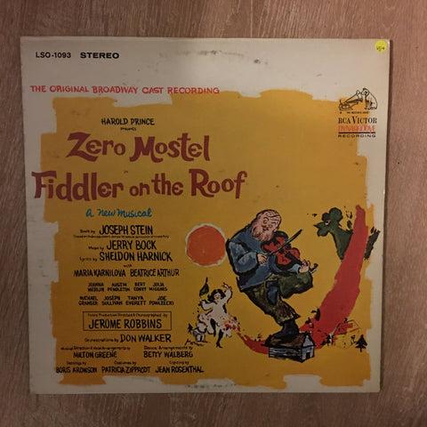 Zero Mostel  ‎– Fiddler On The Roof (The Original Broadway Cast Recording) - Vinyl LP - Opened  - Very-Good+ Quality (VG+)
