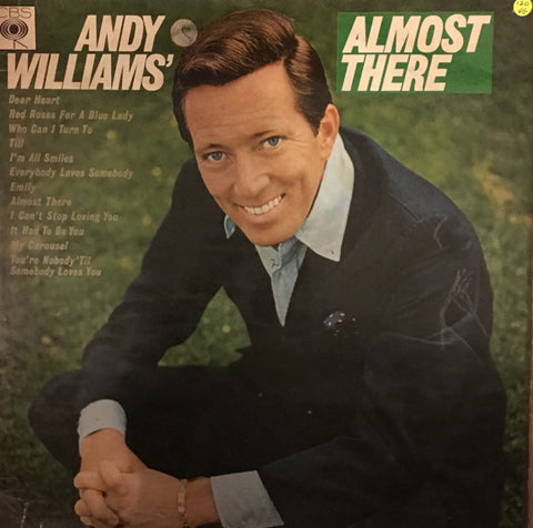 Andy Williams - Almost There - Vinyl LP Record - Opened  - Very-Good Quality (VG)