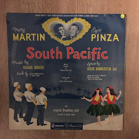 Mary Martin, Ezio Pinza ‎– South Pacific - Vinyl LP - Opened  - Very-Good+ Quality (VG+)