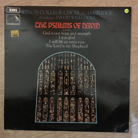 King's College Choir, Cambridge - David Willcocks ‎– The Psalms Of David ‎– Vinyl LP Record - Very-Good+ Quality (VG+)