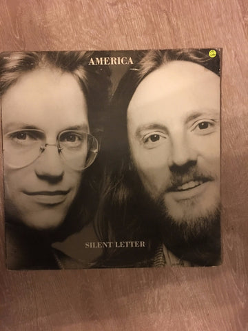 America  - Silent Letter - Vinyl LP Record - Opened  - Very-Good+ Quality (VG+) - C-Plan Audio