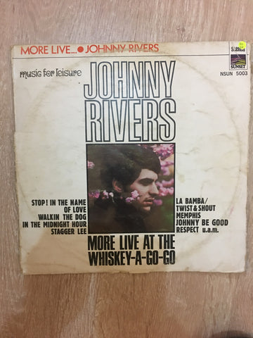 Johnny Rivers  - More Live At The Whiskey A -Go-Go - Vinyl LP Record - Opened  - Good+ Quality (G+) - C-Plan Audio
