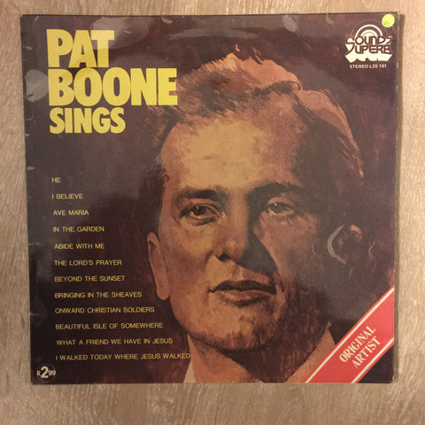 Pat Boone Sings - Vinyl LP Record - Opened  - Very-Good Quality (VG)