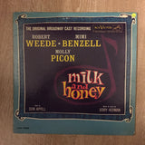 Robert Weede, Mimi Benzell, Molly Picon ‎– Milk And Honey - The Original Broadway Cast Recording - Vinyl LP - Opened  - Very-Good+ Quality (VG+)