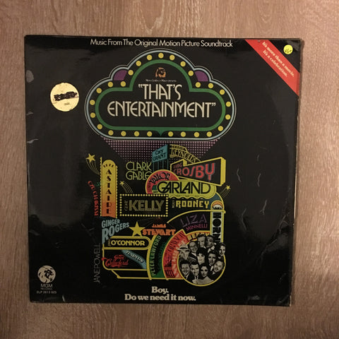 That's Entertainment - Original Soundtrack - Vinyl LP Record - Opened  - Very-Good+ Quality (VG+)
