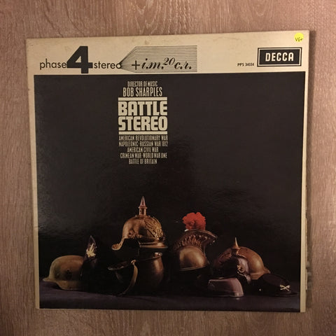 Bob Sharples ‎– Battle Stereo - Vinyl LP Record - Opened  - Very-Good+ Quality (VG+)