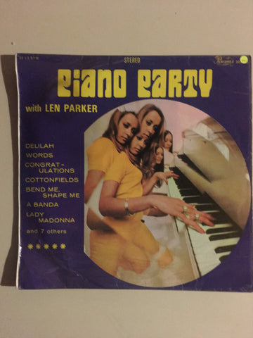 Piano Party with Len Parker - Vinyl LP Record - Opened  - Good Quality (G) - C-Plan Audio