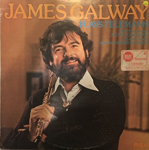 James Galway Plays Teleman - Vinyl LP Record - Opened  - Very-Good+ Quality (VG+) - C-Plan Audio