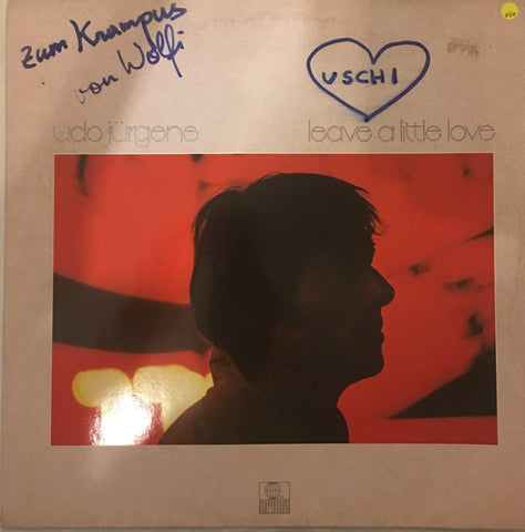 Udo Jurgene - Leave a Little Love - Vinyl LP Record - Opened  - Very-Good+ Quality (VG+) (Note writing on cover) - C-Plan Audio