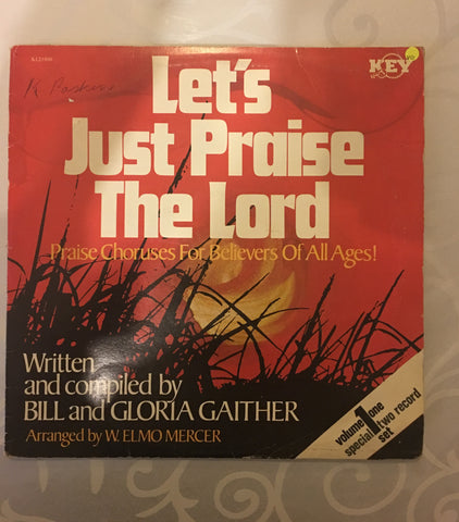 Bill and Gloria Gaither  - Let's Just Praise the Lord - Vinyl LP Record - Opened  - Very-Good Quality (VG)