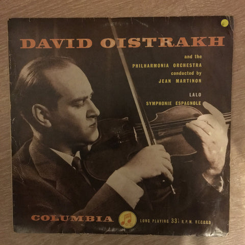 Lalo, David Oistrakh And The Philharmonia Orchestra Conducted By Jean Martinon ‎– Symphonie Espagnole - Vinyl LP Record - Opened  - Good Quality (G)