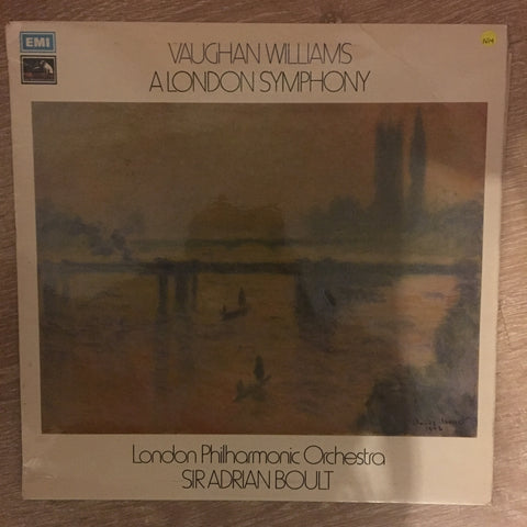 Vaughan Williams - London Philharmonic Orchestra - Sir Adrian Boult ‎– A London Symphony - Vinyl Opened - Near Mint Condition