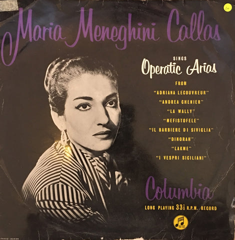 Maria Callas Sings Operatic Arias - Vinyl LP Record - Opened  - Good+ Quality (G+)