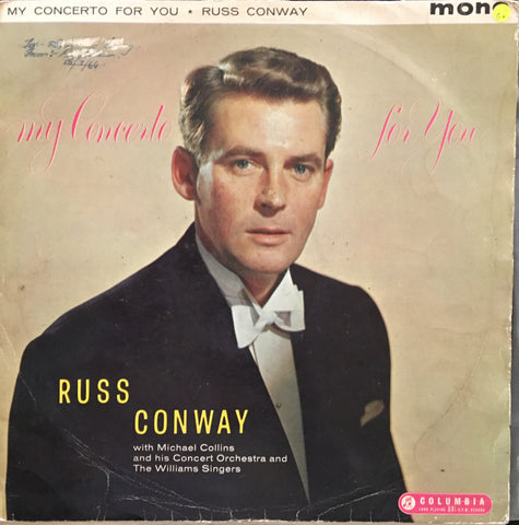 Russ Conway - My Concerto for You  with Michael Collins - Vinyl LP Record - Opened  - Good+ Quality (G+) - C-Plan Audio