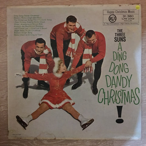 The Three Suns ‎– A Ding Dong Dandy Christmas - Vinyl LP Record - Very-Good+ Quality (VG+)