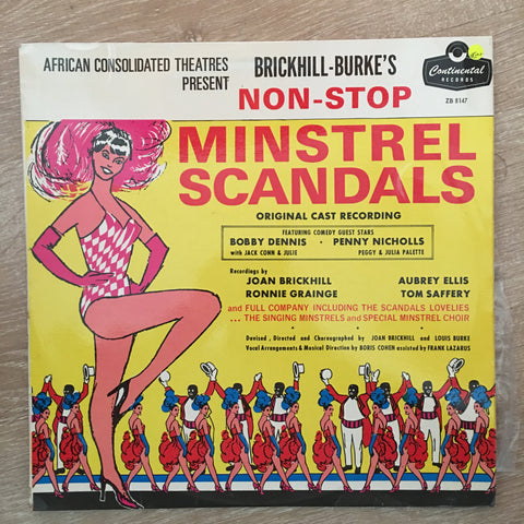 Brickhill-Burke's Non Stop Minstrel Scandals - Vinyl LP Record - Opened  - Very-Good+ Quality (VG+)