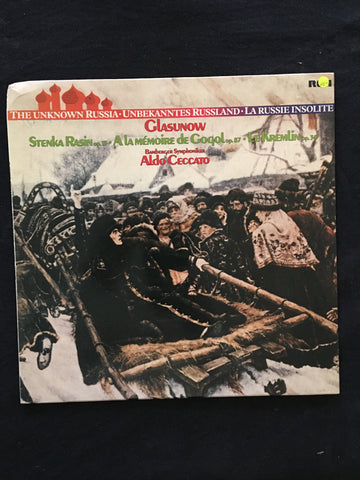 Glasunow - The Unknown Russia  - Vinyl LP Record - Opened  - Very-Good- Quality (VG-) - C-Plan Audio