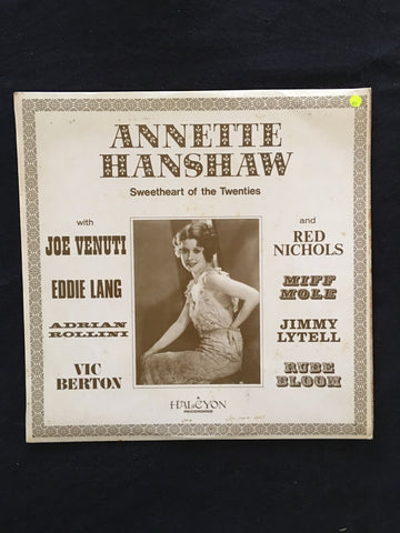 Annette Hanshaw ‎– Sweetheart of the Twenties -  Vinyl LP Record - Opened  - Very-Good Quality (VG) - C-Plan Audio
