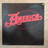 America ‎– America In Concert - Vinyl LP Record - Opened  - Very-Good Quality (VG)