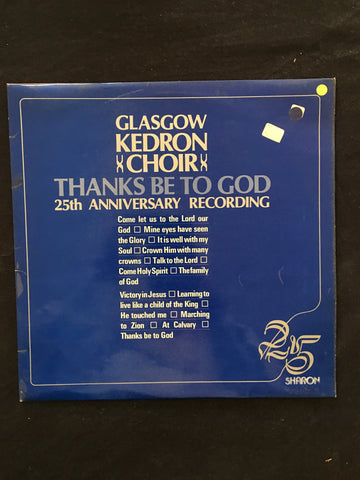 Glasgow Kedron Choir - Thanks Be To G-D - Vinyl LP Record - Opened  - Good Quality (G) - C-Plan Audio