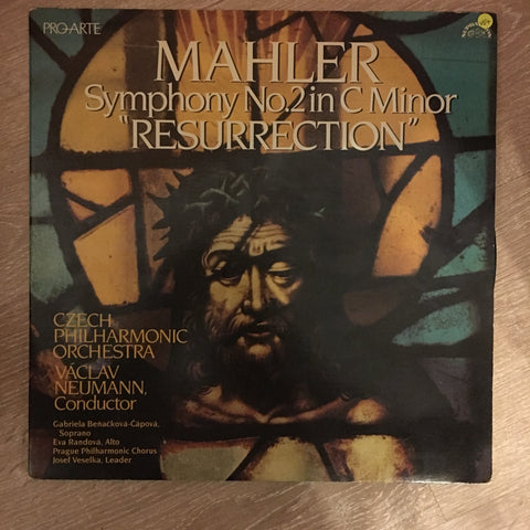 "Mahler - Czech Philharmonic Orchestra a Vaclav Neumann ‎– Symphony No. 2 In C Minor, ""Resurrection"" - Vinyl LP Record - Opened  - Very-Good+ Quality (VG+) - C-Plan Audio"