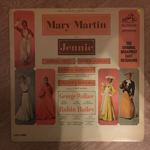 Mary Martin in Jennie - Vinyl LP Record - Opened  - Very-Good+ Quality (VG+) - C-Plan Audio