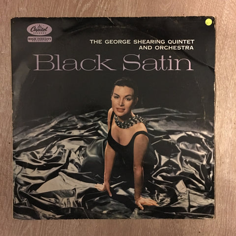 George Shearing Quintet And Orchestra ‎– Black Satin - Vinyl LP Record - Opened  - Very-Good- Quality (VG-)