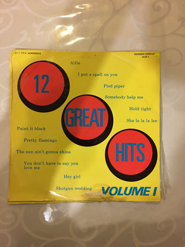 12 Great Hits - Vol 1 - Vinyl LP Record - Opened  - Very-Good Quality (VG)