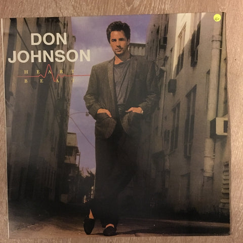 Don Johnson  - Heart Beat - Vinyl LP Record - Opened  - Very-Good+ Quality (VG+)