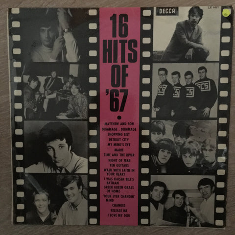 16 Hits Of '67 - Vinyl LP Record - Opened  - Very-Good Quality (VG)