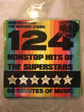 124 Non-Stop Hits of the Superstars -  Vinyl LP Record - Opened  - Very-Good+ Quality (VG+)