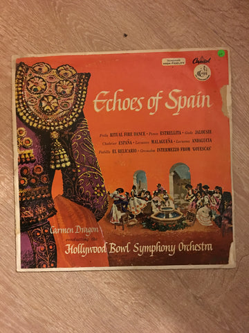 Carmen Dragon - Echoes of Spain - Vinyl LP Record - Opened  - Good+ Quality (G+)