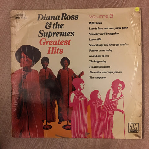 Diana Ross & The Supremes - Greatest Hits Vol 3 -  Vinyl LP Record - Opened  - Very-Good Quality (VG)
