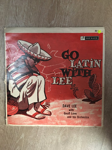 Dave Lee With Geoff Love And His Orchestra ‎– Go Latin With Lee - Vinyl LP Record - Opened  - Very-Good- Quality (VG-)