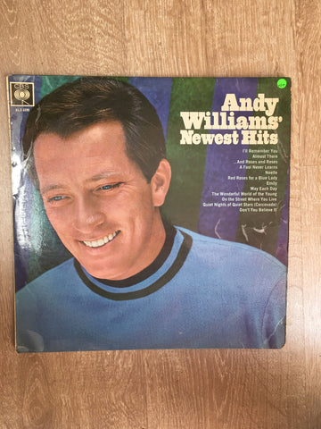 Andy Williams - Newest Hits - Vinyl LP Record - Opened  - Very-Good+ Quality (VG+)