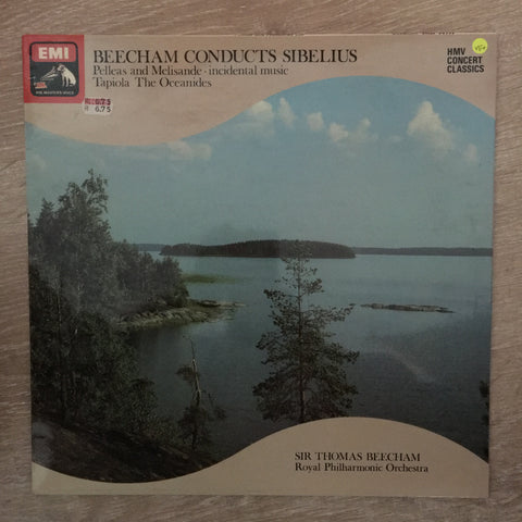 Sibelius, Sir Thomas Beecham / Royal Philharmonic Orchestra ‎– Beecham Conducts Sibelius - Vinyl LP Record - Opened  - Very-Good+ Quality (VG+)