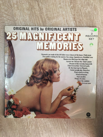 25 Magnificent Memories - Original Hits by Original Artists - Double Vinyl LP Record - Opened  - Very-Good+ Quality (VG+)