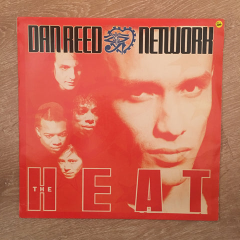 Dan Reed Network - The Heat ‎– Vinyl LP - Opened  - Very-Good+ Quality (VG+)