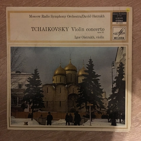 Igor Oistrakh, Moscow Philharmonic Orchestra Conducted By David Oistrakh, Tschaikovsky ‎– Violinconcerto Opus 35 -  Vinyl LP Record - Opened  - Very-Good+ Quality (VG+)