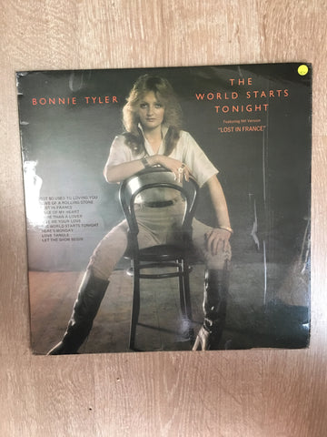 Bonnie Tyler - The World Starts Tonight - Vinyl LP Record - Opened  - Very-Good+ Quality (VG+)