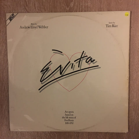 Evita (with Julie Covington)-  Double Vinyl LP Record - Opened  - Very-Good Quality (VG) - C-Plan Audio