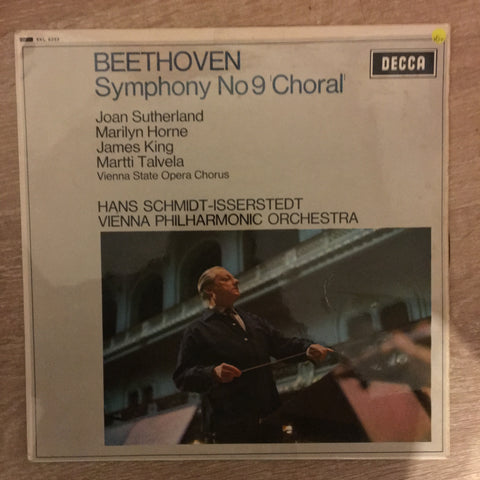 Beethoven - Joan Sutherland -Vienna State Opera Chorus, Hans Schmidt, Vienna Philharmonic Orchestra ‎– Symphony No 9 'Choral' - Vinyl LP Record - Opened  - Very-Good+ Quality (VG+)