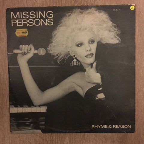 Missing Persons ‎– Rhyme & Reason - Vinyl LP Record - Opened  - Very-Good Quality (VG) - C-Plan Audio