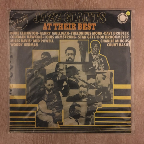Various ‎– Jazz Giants At Their Best - Vinyl LP - Opened  - Very-Good+ Quality (VG+)