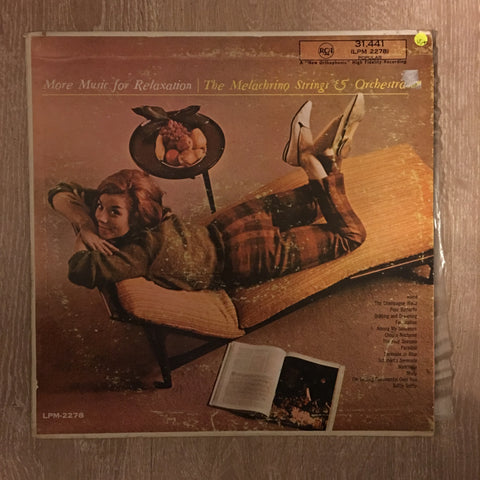 Melachrino Strings And Orchestra ‎– More Music For Relaxation - Vinyl LP Album - Opened  - Very-Good+ Quality (VG+) - C-Plan Audio
