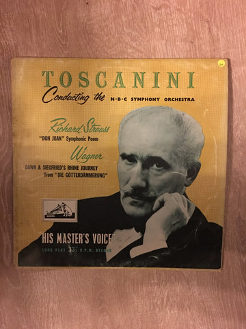 Arturo Toscanini And NBC Symphony Orchestra - Richard Strauss • Wagner ‎– Don Juan • Die Götterdämmerung: Siegfried's Rhine Journey - Vinyl LP Record - Opened  - Good+ Quality (G+)